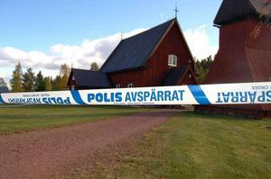 Elva träskulpturer från 1400-talet och ett processionskrucifix stals från Evertsbergs kapell i Dalarna.Fotograf: Stefan Rämgård