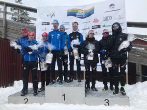 Åsarna slutade trea i herrstafetten i junior-SM.