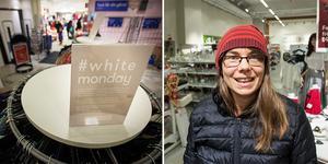 – Jag handlade ännu mer begagnat när barnen var yngre, nu börjar de ha mer specifika önskemål som exempelvis dataspel, säger Veronica Bengts, en av Myrornas kunder under White Monday.