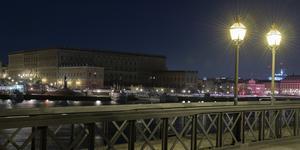 Stockholms slott nedsläckt under Earth Hour. Foto: Maja Suslin