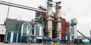 Här vid Stora ensos fabrik i Skutskär hittades chauffören död vid sin tankbil.