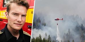 Johan Szymanski var en av räddningsledarna för den stora skogsbranden på Älvdalens skjutfält i somras. Bild: Anton Ryvang/Mats Andersson, TT
