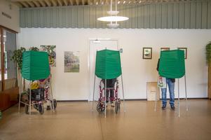 Röstning i Nacksta utanför Sundsvall. Allt verkar ha gått lugnt till där.
