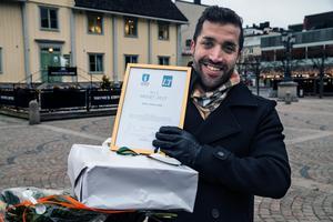 2017 års 5i12-pris gick till RFSL Södertälje, Johan Can tog emot priset.