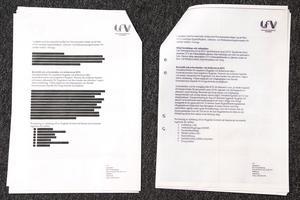 I dokumentet till vänster har Luftfartsverket strukit stora delar av innehållet. Men Försvarsmakten lämnar ut samma dokument (till höger) efter sekretessprövning utan att stryka något ur det.