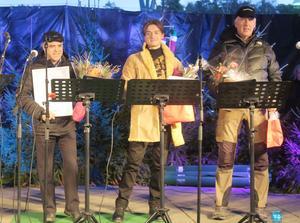 Aboud Abbe Ibrahim utsågs till årets företagare, Kim Fagergren fick årets ledarstipendium och Lars Erik Nurme årets hederspris av Laxå kommun vid julmarknaden på lördagen.