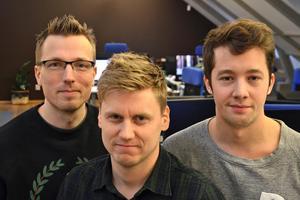 Trion som blev programmerare på tolv veckor: Per Jenelius, Nicklas Hillgren och Linus Zackrisson.