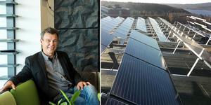 Lars Österlund, vd på Övikshem, tror på solenergi som en del i lösningen att minska företagets klimatpåverkan.