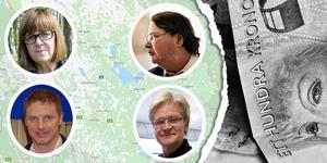 Elisabet Salander Björklund, Per-Olof Ejendal, Peter Wigert och Rolf Landrin finns med på listan. Foto: Jan Svensson, Lars Dafgård, Sten Widell, Björn Westin, Martina Holmberg/TT