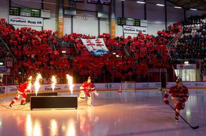 5211 personer såg Timrå IK:s senaste hemmamatch mot Skellefteå AIK. Bild: Pär Olert/Bildbyrån