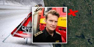 Räddningschefen Johan Szymanski berättar om den utdragna bärningen på E45 som gjorde att räddningstjänsten inte heller kunde lämna platsen. Bilden är ett montage.