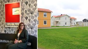 Faxeholmen är den största aktören på Söderhamns bostadsmarknad. Ann-Berit Botngård är VD.