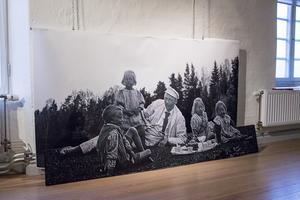 Picknickbild med  familjen Bergendahl, tidigt på 1900-talet.