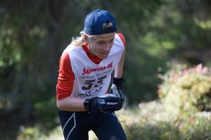 Bosse Lövgren, Falu IK, kom på fjärde plats i pojkloppet.