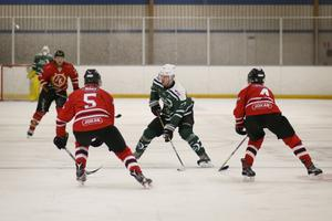 Sala Hockeys Jonathan Lundqvist i matchen mot Östhammar.