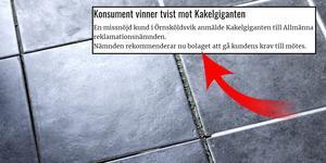 En man i Långviksmon vann en tvist mot Kakelgiganten, som nu rekommenderas betala mannen 4580 kronor i ersättning. Foto: TT