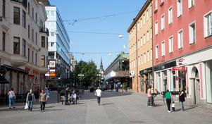 """Debattörerna vill se """"ett målmedvetet arbete för att stoppa butiksdöden och utveckla stadskärnan""""."""