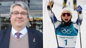Hans Unander (S), kommunalråd i Stina Nilssons hemkommun Malung-Sälen, blev rörd över Stinas OS-guld i sprint.