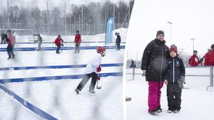 Många åskådare var på plats när Arnäs IF arrangerade Tigers Winter Classic – två av dem var Veronica Lundström och sonen Hampus Wadman.