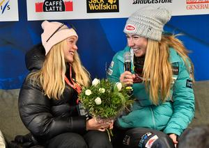 Emma Lundell och Mikaela Shiffrin.