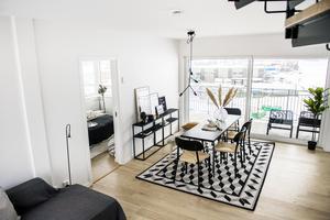 Bild från en av lägenheterna som är till försäljning.