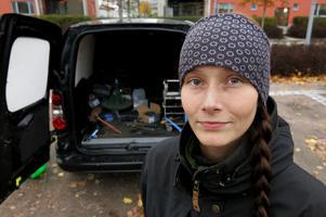 Felicia Stenvall har startat ett eget företag och hovslageriet ska så småningom bli en heltidssyssla.