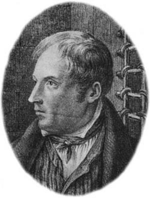 Det enda kända porträttet av Lasse-Maja, som egentligen hette Lars Larsson Molin. Foto: Wikimedia commons