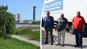 Linjegods är något av en institution på Kolvägen, men nu planerar företagsledningen för en efterlängtad flytt. Från vänster ses Billy Eng,  Roger Åsell och Lennart Karlsson.