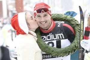 Andreas Nygaard med Kranskullan Sara Wadman.