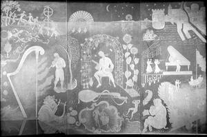 Glaspaneler. Av Edward Hald, i CH:s matsal 1943.