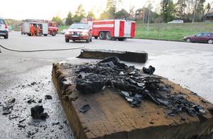 Branden var snabbt släckt. Desto längre tid tog det att vädra ut röken.