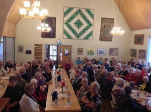 En fullsatt sal lystrade till berättelsen om Avestas förste världsmästare.
