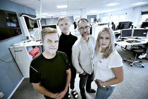 Conny Svensson, Simon Larsson, Jörgen Svendsen och Stina Dahle kommer att hårdbevaka kommunerna Älvkarleby, Ockelbo, Tierp och Hofors.