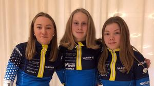 Elin Näslund, Klara Torshage och Elin Forsgren från Vår by IK hade stora framgångar i USM under lördagen.