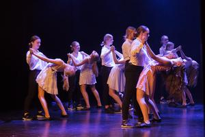 Dansarna visade ett nummer till musiken ur filmen Dirty dancing.