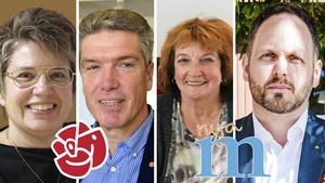 Åsa Sjödén (S), kommunalråd Sollefteå, Ingemar Nilsson (S), riksdagsledamot, Kerstin Franzén (M), ordförande för Sollefteåmoderaterna.