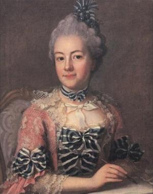 Hedvig Charlotta Nordenflycht. Målning av Ulrika Pasch.