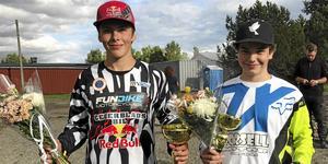 Elias Persson och Marcus Gredinger representerade MK Orion på SM-premiären i Saxtorp.