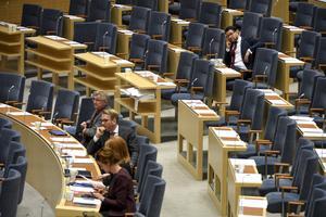 Skribenten tycker att SD har all rätt att få samma behandling i riksdagen som alla andra. Bild: Jessica Gow/TT