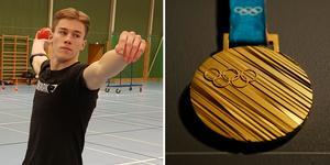 Olle Hübert deltar i landslagets utvecklingsträff i spjut. Kanske kan han i framtiden upprepa grängeshjälten Erik