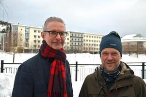 Bo Tjälldén och Peter Koserius Nordberg presenterade högtflygande planer.