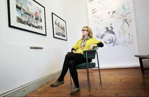 Emma Löfström ställer ut på Hackås maskin och kultur.