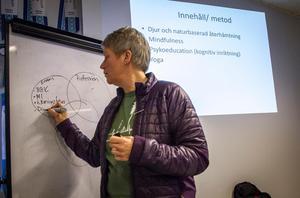 Lena Stenvall höll en föredragning för personalen på onsdagen och en öppen föreläsning på torsdagen.