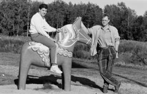 Robert Burakovsky och Christer Abrahamsson inför elitseriepremiären 1987. Säsongen därpå skulle