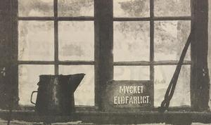 En bonde på 1800-talet experimenterade med ett lätt brännbart ämne.