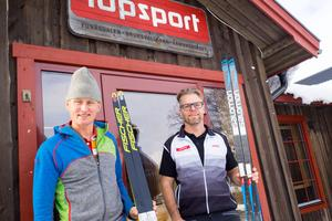 Jonas Möller och Jonas Lindqvist, har redan hunnit med flera turer i terrängen ovanför Bruksvallarna.