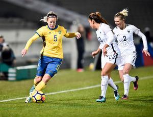 Hanna Glas spelade fram till två av målen i vinsten mot Ungern. Bilden är från ett tidigare tillfälle,