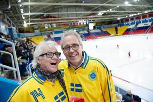 Pelle Togner och Stefan Karlsson är tillbaka i Chabarovsk för att följa VM 2015. Bild: Jessica Gow / TT