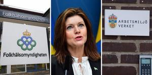 Folkhälsomyndigheten/arbetsmarknadsminister Eva Nordmark/Arbetsmiljöverket.