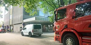Räddningstjänsten ryckte ut till Nynäshamns sjukhus på måndagsförmiddagen.